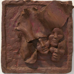 _I Am So Many #3_, clay, tryptich (17x18x5 each)500x500